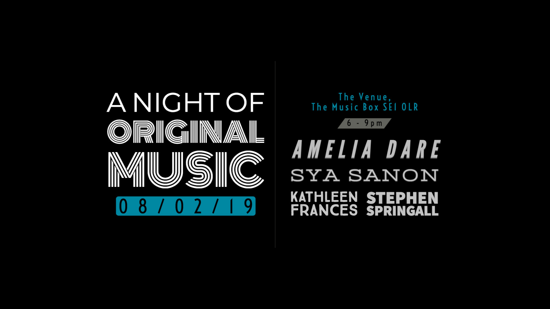 A Night of Original Music